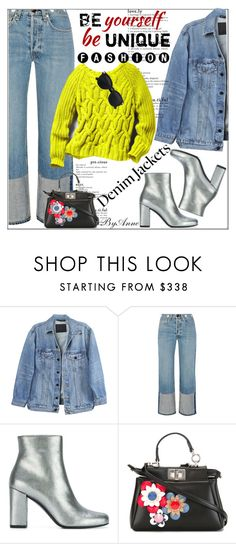 """""""Be Unique Yourself  #contest @polyvore"""" by anne-977 ❤ liked on Polyvore featuring Y/Project, rag & bone, Yves Saint Laurent, Fendi and jeanjackets"""