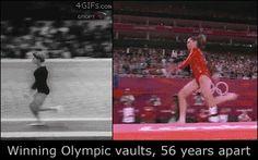 La evolución de las tendencias de belleza en la gimnasia olímpica. Vaya que los tiempos cambian!