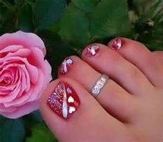 valentine toenails
