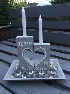 Herzen aus Beton- individuelles Geschenk zur Hochzeit