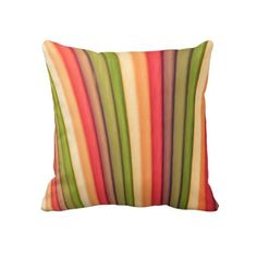 Orange Rainbow Art Sofa Pillow Designed by Just For Mom $67.45
