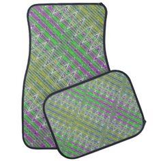 Car Mats for your auto. Colorful zigzag pattern design. #zazzle #cars #autos