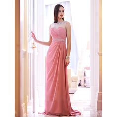 >> Click to Buy << vestido Hot Sale Natural Evening Party Dresses Floor-length 2017 Pearls Cheap Chiffon Pink Prom Gown Dress Long Style Ed347 #Affiliate