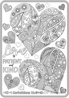 This Set of 3 Love Bible Verse Coloring Pages Corinthians Coloring is just one of the custom, handmade pieces you'll find in our digital shops. Coloring Pages For Grown Ups, Valentine Coloring Pages, Heart Coloring Pages, Printable Adult Coloring Pages, Christmas Coloring Pages, Coloring Pages To Print, Coloring Books, Colouring, Free Coloring Sheets