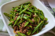 Sautéed Green Beans With Ground Beef (Filipino-style Ginisang Baguio Beans) – Russian Filipino Kitchen Sauteed Green Beans, Sauteed Greens, Guisado Recipe, Giniling Recipe, Comida Filipina, Filipino Dishes, Filipino Food, Filipino Desserts, Filipino Empanada