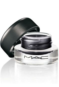 MAC blacktrack fluidline, perfect for smudging for smokey eye or winged eyeliner, super black. Waterproof and smudgeproof when set!