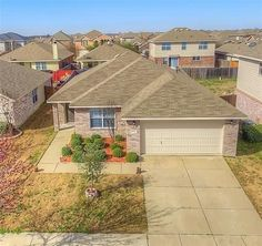 Light & bright 3 bedroom home with a spacious open floor plan. Kitchen offers great cabinet storage & pretty backsplash. Enjoy choosing your own carpeting with $4000 carpet allowance offered by seller. Neighborhood full of family-friendly amenities with nearby pool, park and pond plus the easy distance to the community Elementary School. Popular Crandall ISD. Zero down USDA eligible.
