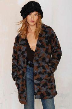 29e77d9e4b8 Maison Scotch Camo Ammo Wool Coat
