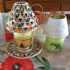 Grande jarre my Serenity et moyenne jarre honeydew melon de yankee candle