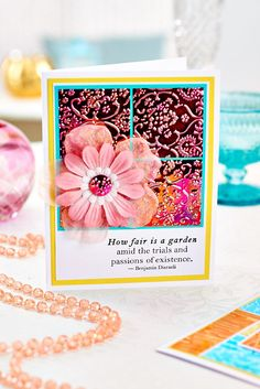 Gorgeous Shimmer Sheetz card (PaperCrafter issue 81)