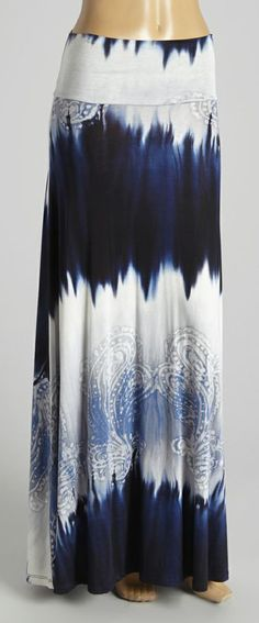 Go from a stroll to a strut in this sweeping blue and white tie-dye maxi with paisley flourishes. Silken fabric with a slight stretch ensures a comfortable fit. Size note: This item runs small. Please refer to the size chart. Modest Outfits, Modest Fashion, Boho Fashion, Fashion Outfits, Womens Fashion, Pretty Outfits, Beautiful Outfits, Cute Outfits, Cute Maxi Skirts