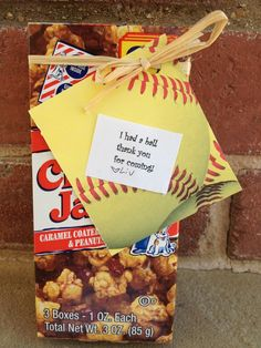 photos of softball parties | Party favors for a softball party | Party Ideas
