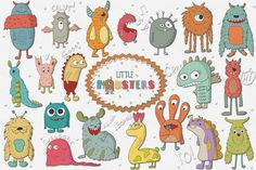 Little Monsters | Design Bundles