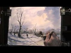 Walk in the Snow, Line and Wash - YouTube