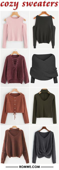cozy sweaters from romwe.com