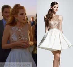 """Famous in Love: Season 1 Episode 2 Paige's Gold Embellished Dress 