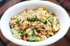 Double&Freeze This homemade fried rice is healthy, inexpensive, and better than some of your favorite Chinese takeout Sweet Soy Sauce Recipe, Recipes With Soy Sauce, Rice Recipes, Dinner Recipes, Freezer Recipes, Dinner Ideas, Healthy Menu, Healthy Eating Recipes, Real Food Recipes