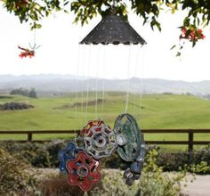 Homemade Wind Chime From Junk   wind chimes