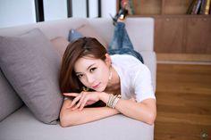 Korean model Ju Da Ha in jeans