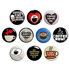 Coffee Fridge Magnets, Gift for Coffee Lover, Refrigerator Magnets, Round Magnets, Office Magnets, Whiteboard Magnets... Coffee Humor, Funny Coffee, Work Jokes, Work Humor, Funny Buttons, Work Gifts, Coffee Gifts, Funny Gifts, Refrigerators