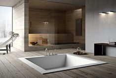 Corian collection for your bathroom: Unico by Rexa design Mini Bathtub, Built In Bathtub, Bathtub Shower, My Home Design, Modern Design, House Design, Design Design, Showroom Design, Interior Design