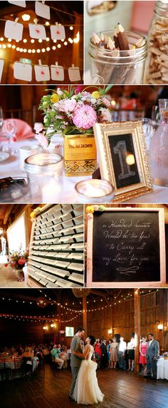 definitely diggin' the twine with clipped table numbers. cute.