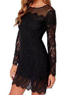 V-SOL Dress Vestido Corto Para Mujer De Noche Fiesta Club Con Manga Larga Negro V-SOL http://www.amazon.es/dp/B00RXCKNJG/ref=cm_sw_r_pi_dp_d7M-ub1QS1R5T