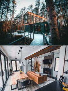 Inside look at The Box Hop, a real shipping container cabin you can book. Inside look at The Box Hop, a real shipping container cabin you can book. Container Homes For Sale, Building A Container Home, Container House Design, Tiny House Design, Cabin Design, Container Buildings, Container Architecture, Container Store, Design Design