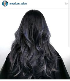 Beautiful dark hair to subtle metallic purple fade.