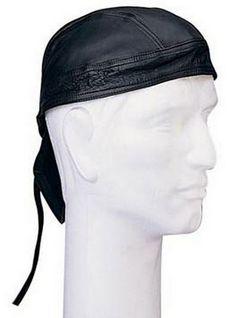 Black Leather Headwrap - ArmyNavyShop.com