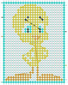 Alpha Pattern #22062 added by cendrillon Alpha Patterns, Friendship Bracelet Patterns, Company Logo, Beads, Bracelets, Diy, Crossstitch, Cinderella, Beading