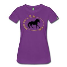 Horse Girl T-Shirt - black and gold print