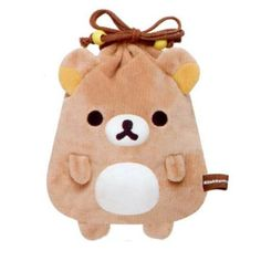 brown Rilakkuma bear plush bento pouch bag망고카지노 HERE777.COM 망고카지노 망고카지노 망고카지노 바카라