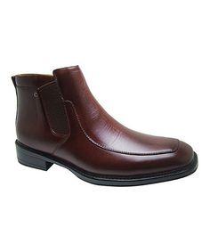Brown Smooth Ankle Boot #zulily #zulilyfinds