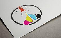 Check out Creative Printshop Rocket Logo by DIGITAVERN on Creative Market