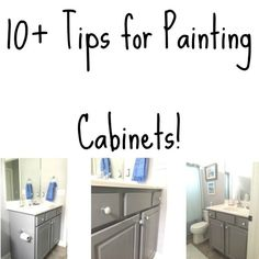 Great cabinet painting tips for beginners or pros!