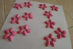 pistachio crafts how cute! Spring flower art project for kids
