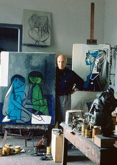 Pablo Picasso Paintings And Releasing Your Inner Picasso – Buy Abstract Art Right Pablo Picasso, Kunst Picasso, Art Picasso, Picasso Paintings, Henri Matisse, Studios D'art, Art Abstrait, Famous Artists, Art History