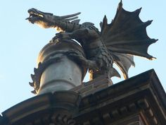 FABULOUS chimney dragon..custom made in London for a home in Oklahoma City.