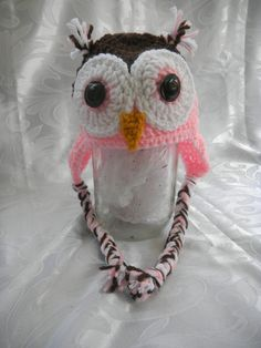 Owl Hat by TheRusticBumblebee on Etsy