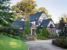 HGTV hearts Tudors! Get stealable curb appeal ideas from a Birmingham, Alabama neighborhood full of Tudor Revival homes.