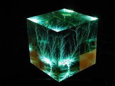 Cubed Illuminated Lichtenberg Figure