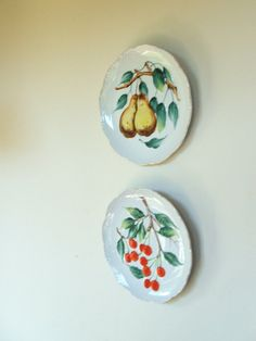 Pair of Vintage Decorative Fruit Plates by lookonmytreasures on Etsy