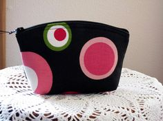 Cosmetic Zipper Bag Clutch Purse Retro by Antiquebasketlady, $12.00 #teamsellit