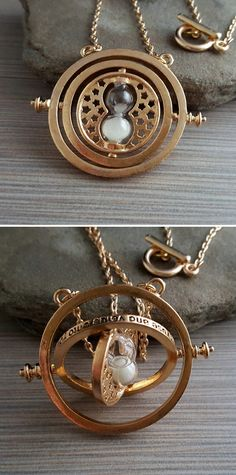 Golden Time Turner Necklace #harrypotter