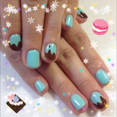Valentin's Nail  Chocolate Mint♪