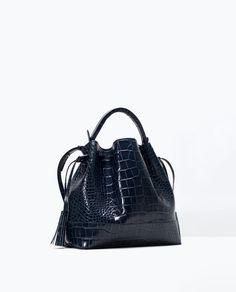 ZARA - WOMAN - Crocodile leather bucket bag