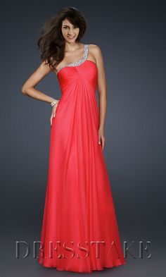 7ff67ed5e7d3 Sexy A-line One Shoulder Floor-length Chiffon Beading Red Evening Dresses  Šaty Pre