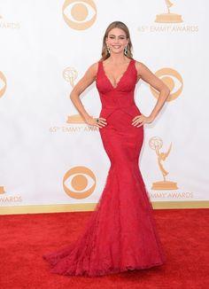 Sofia Verga, con su vestido corte sirena, no podía faltar en la gala.
