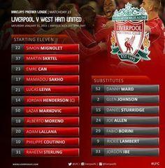 Liverpool FC - West Ham United
